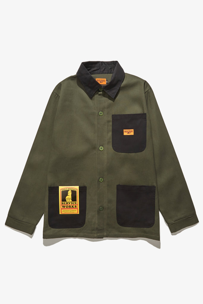 Service Works - Bakers Work Jacket - Black/Olive