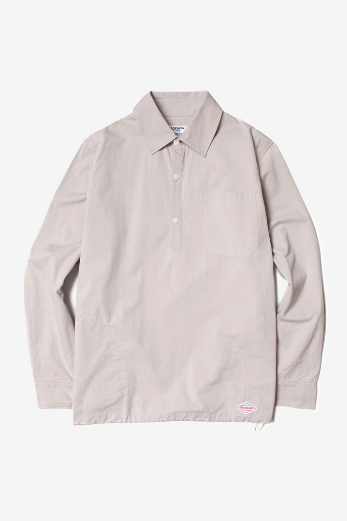 Blacksmith - Washed Popover Shirt - Dove Grey