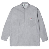Ben Davis - 1/4 Zip Pullover Work Shirt - Hickory Stripe