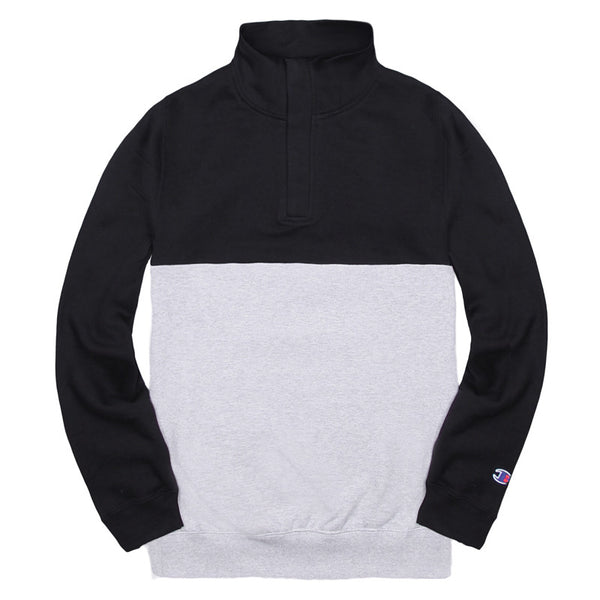 Blacksmith - Binary Quarter Zip - Black/Grey