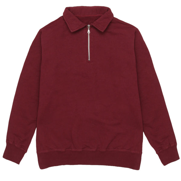 Blacksmith - Cross-Grain Staple 1/4 Zip - Burgundy