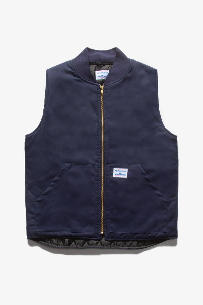 Power House - Canvas Work Vest - Navy Blue