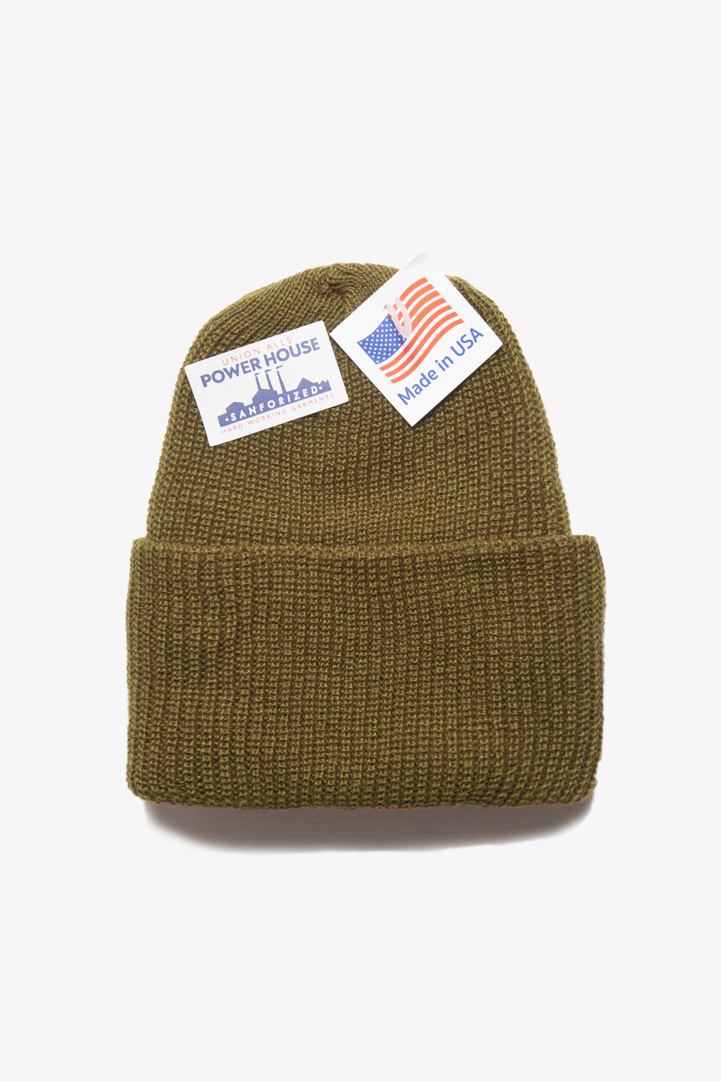 Power House - Watch Cap Beanie - Olive