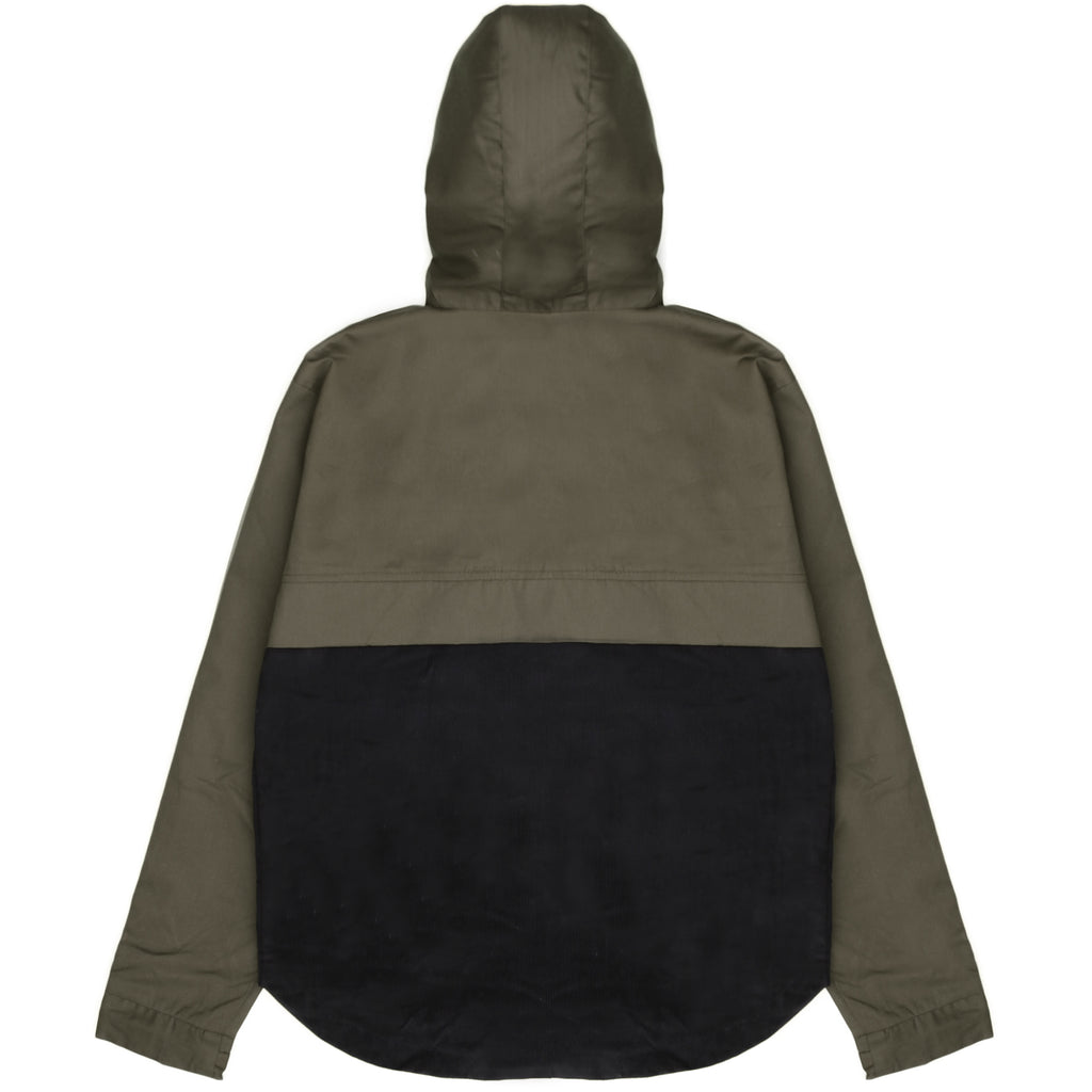 Blacksmith - Two Tone Corduroy/Canvas Pullover - Olive