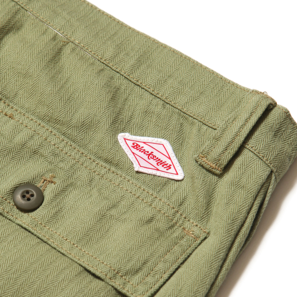 Blacksmith - Herringbone Easy Pants - Light Olive
