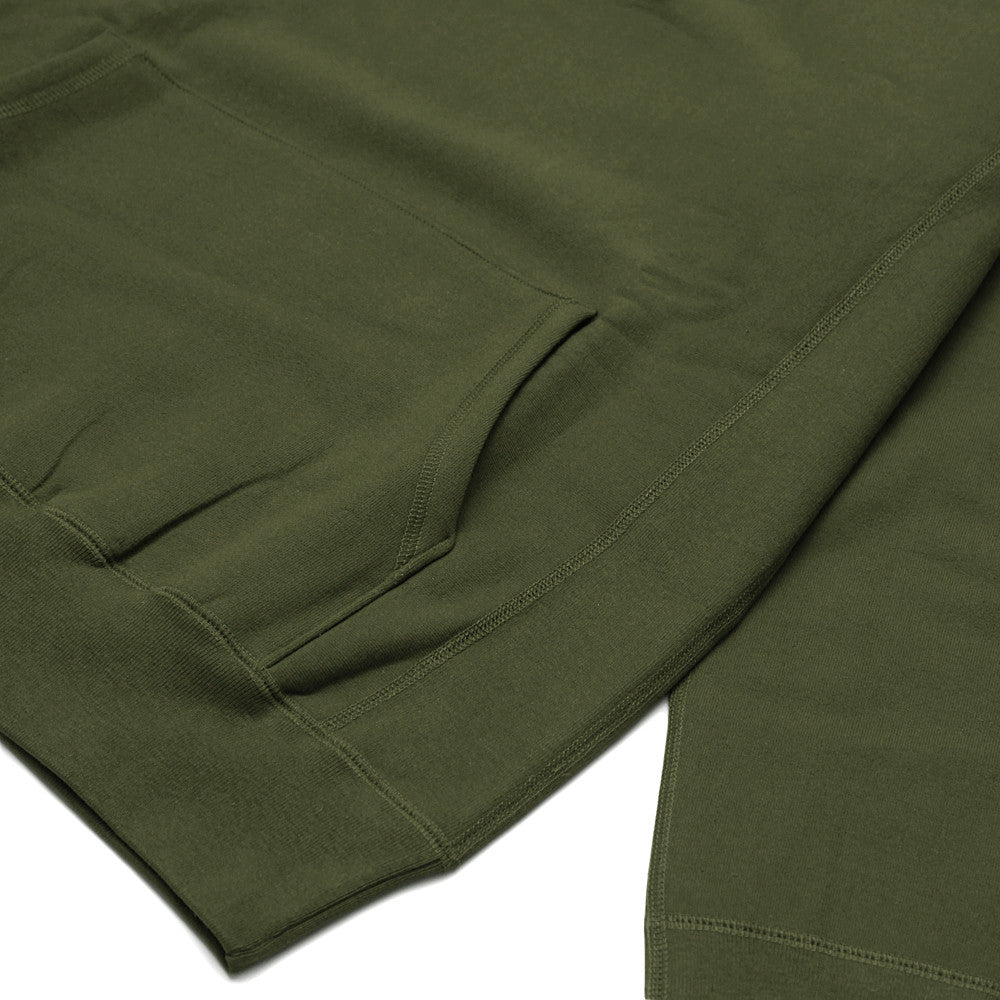 Blacksmith - Cross-Grain Staple Hoodie - Olive