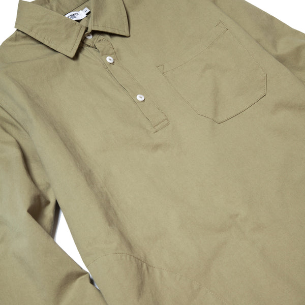 Blacksmith - Washed Popover Shirt - Olive