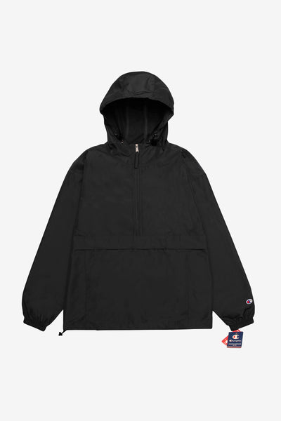 Champion - Packable Hooded Anorak Jacket - Black