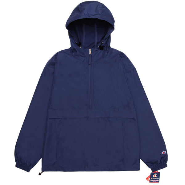 Champion - Packable Hooded Anorak Jacket - Navy