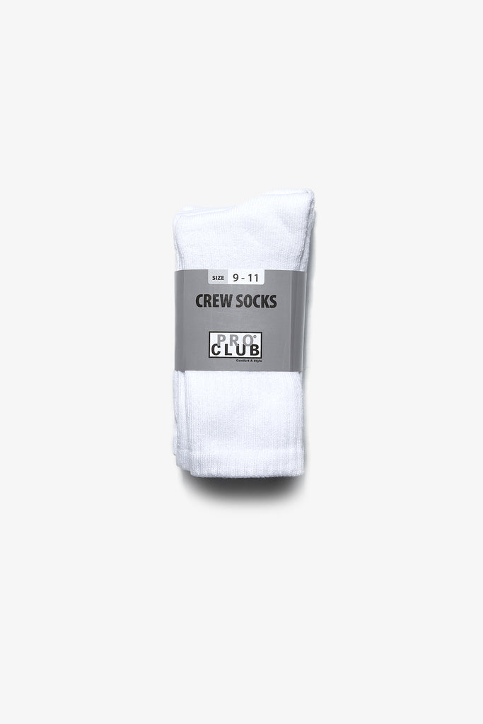Pro Club - Heavyweight Crew Socks - 3 Pack - White