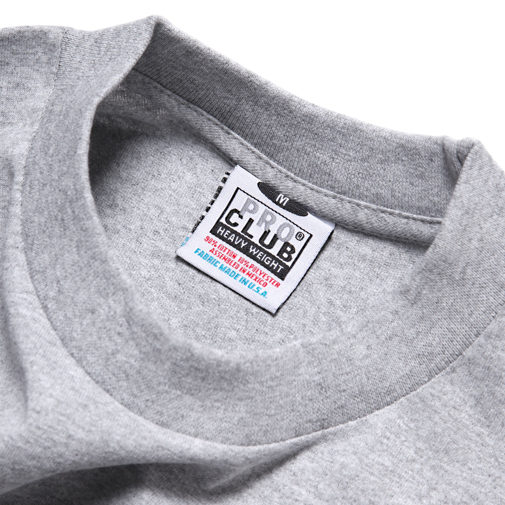 Pro Club - Heavyweight Long Sleeve T-Shirt - Heather Grey