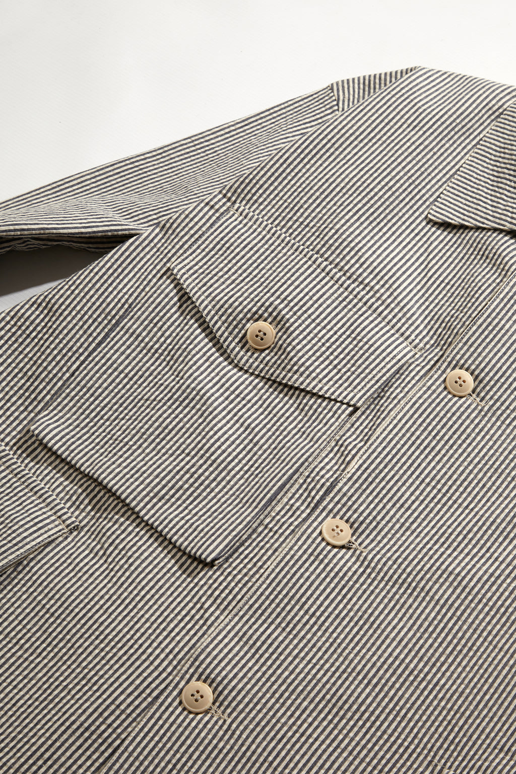 Blacksmith - Seersucker Chore Overshirt - Navy