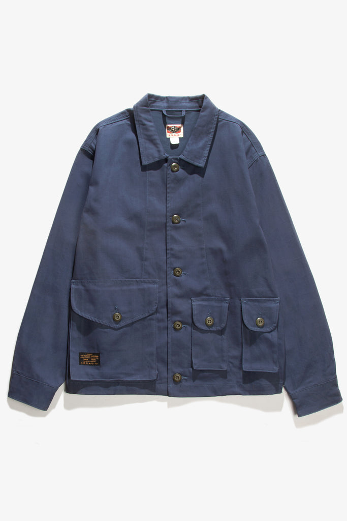 Red Ruggison - Twill Military Work Jacket - Navy