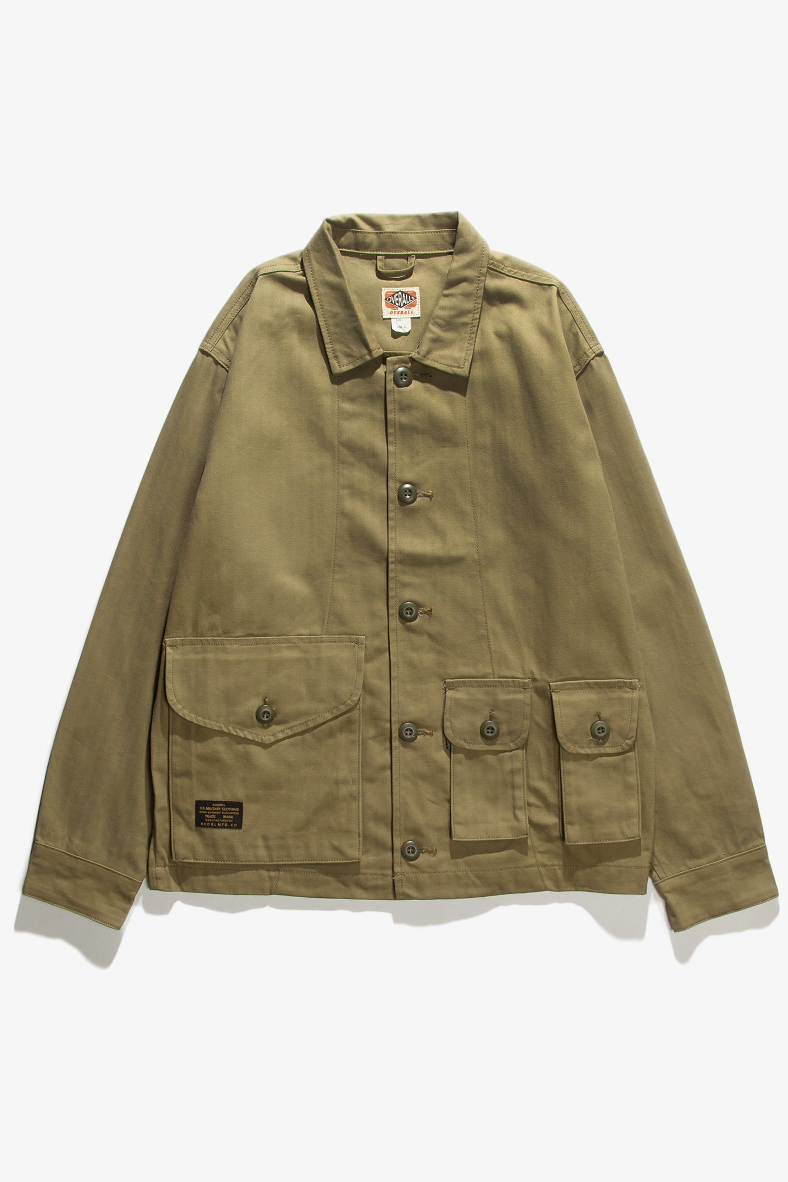 Red Ruggison - Twill Military Work Jacket - Olive