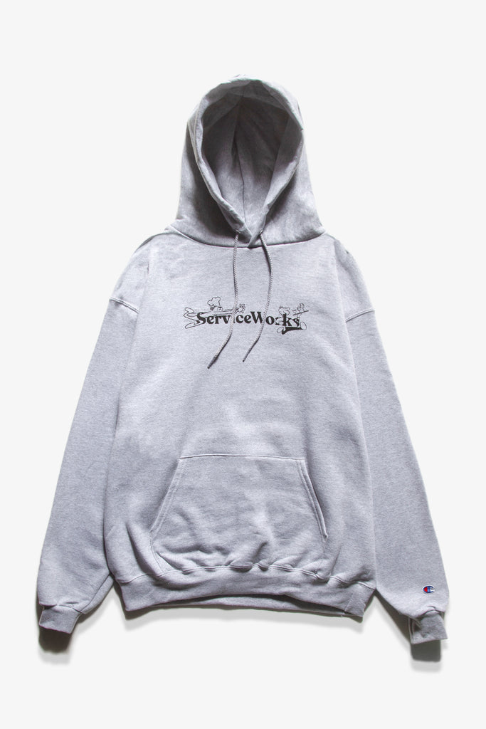 Service Works - Chase Hoodie - Heather Grey