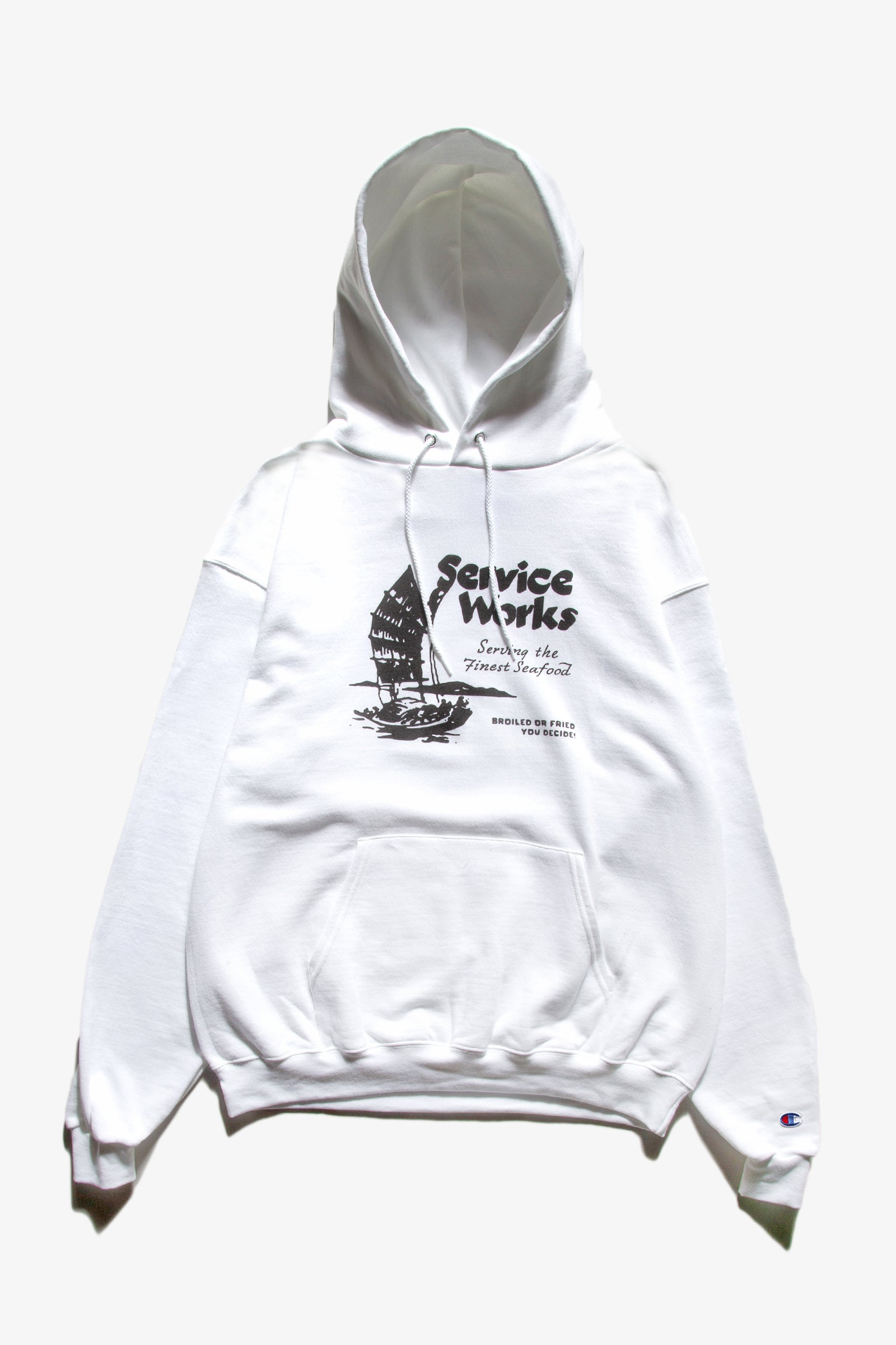 Service Works - Sail Away Hoodie - White