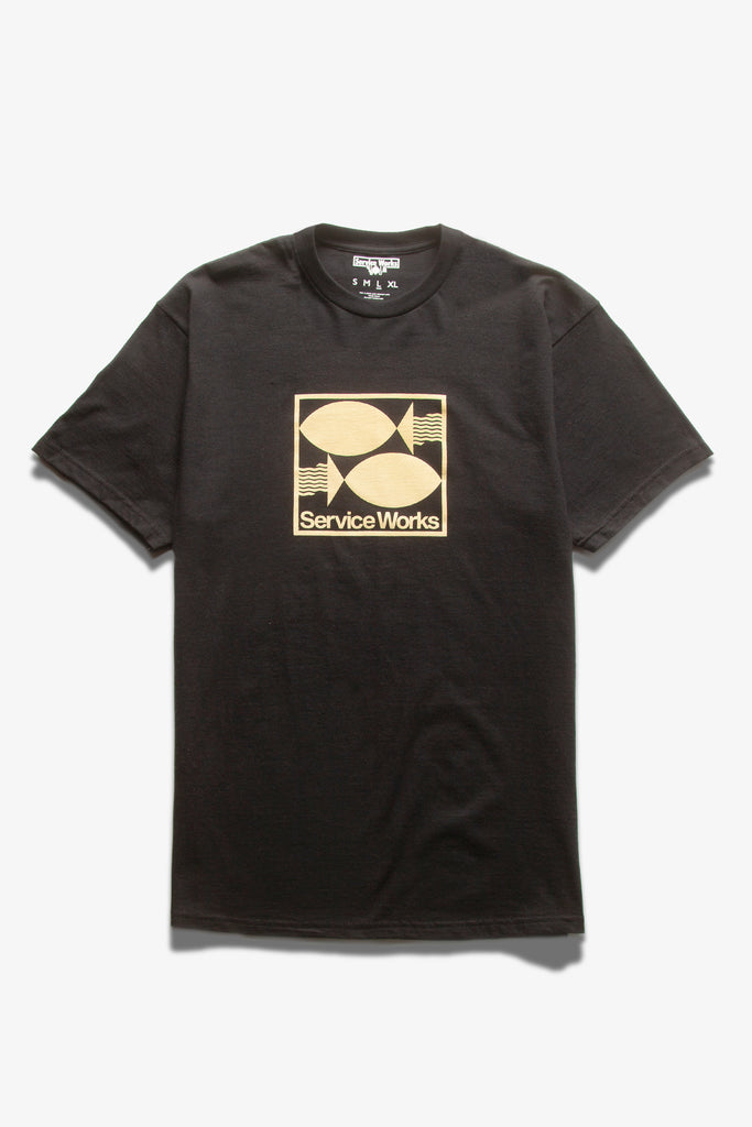 Service Works - Turbot Tee - Black