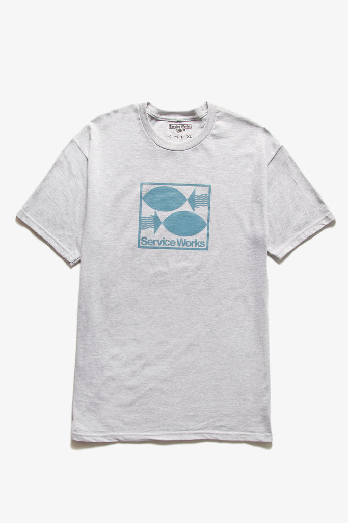 Service Works - Turbot Tee - Heather Grey