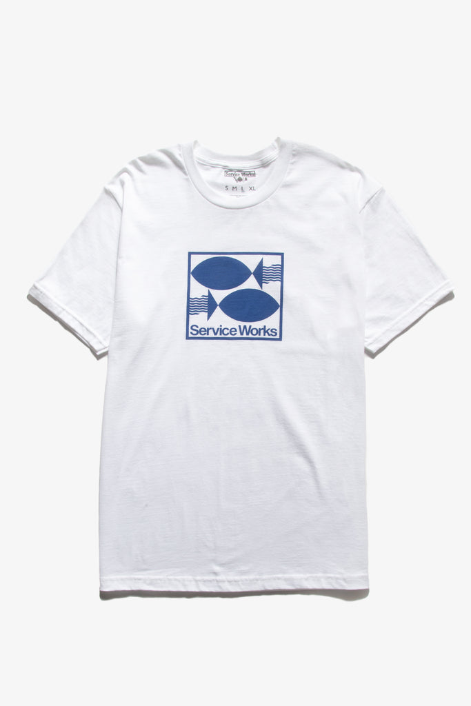 Service Works - Turbot Tee - White