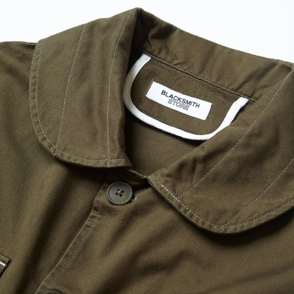 Blacksmith - Shawl Collar Work Jacket - Moss