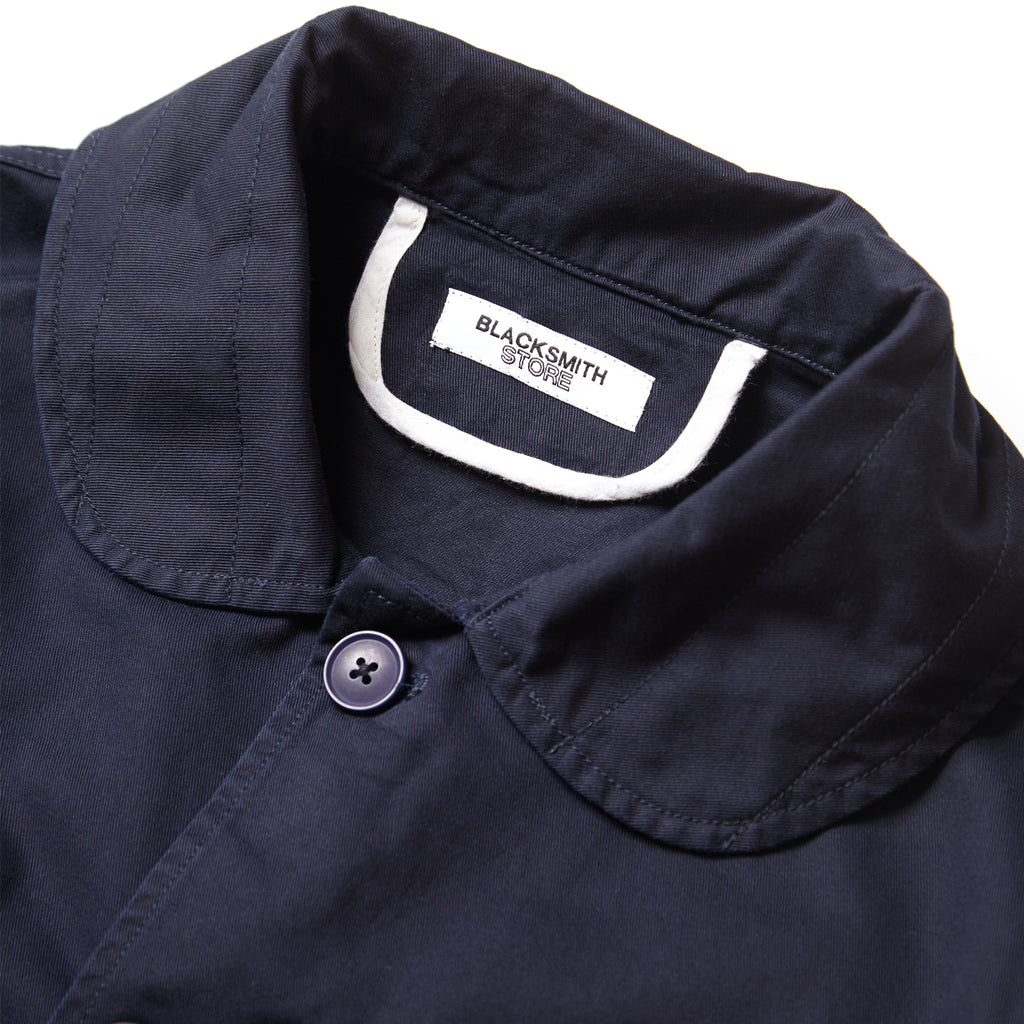 Blacksmith - Shawl Collar Work Jacket - Navy