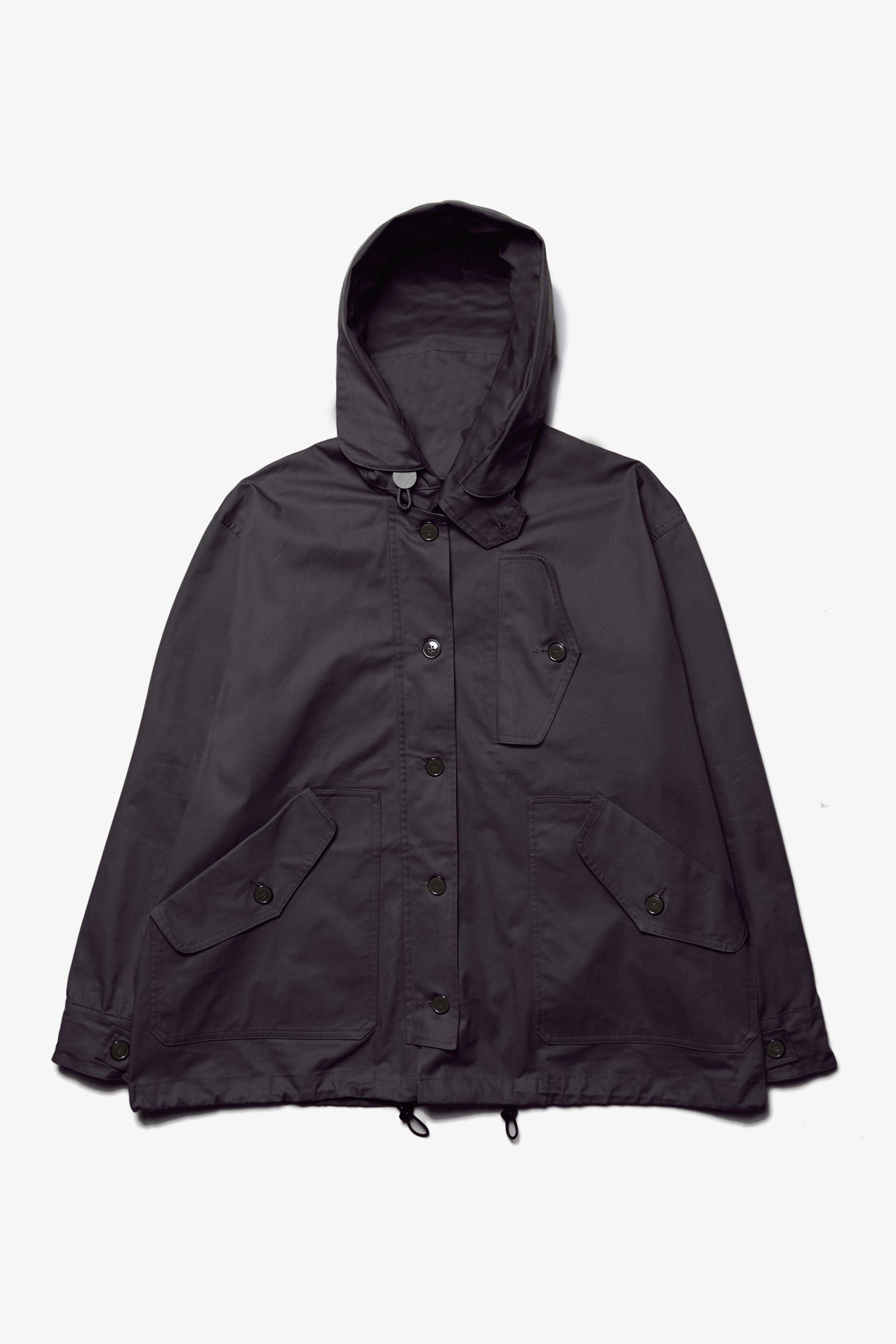 Outstanding & Co. - RAF Short Hooded Parka - Black