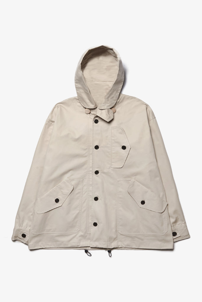 Outstanding & Co. - RAF Short Hooded Parka - Cream