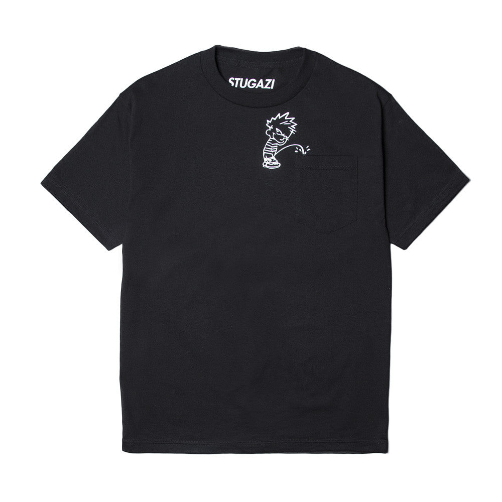 Stugazi - Pocket Pee Tee - Black