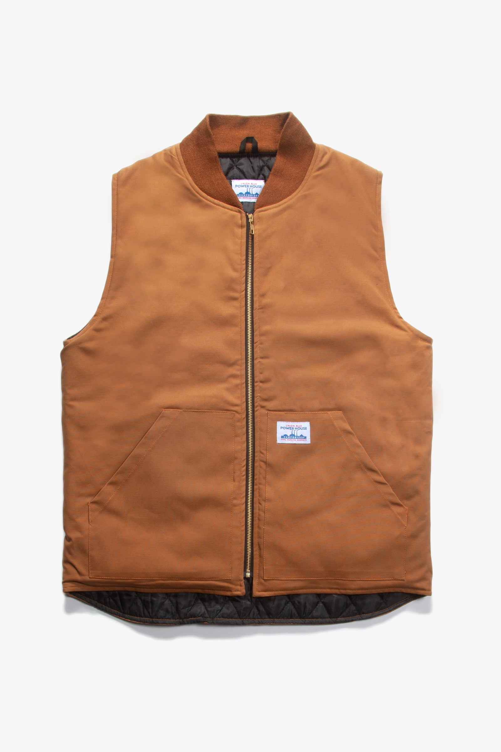 Power House - Canvas Work Vest - Brown