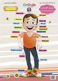 EinStylo - The Human Body's in both English and Arabic (3-5 years) - Poster