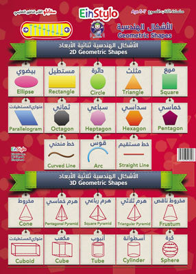 EinStylo - Geometric Shapes in both English and Arabic (3-5 years) - Poster