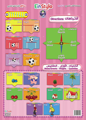EinStylo || The Directions in both English and Arabic (5-7 years) || Poster