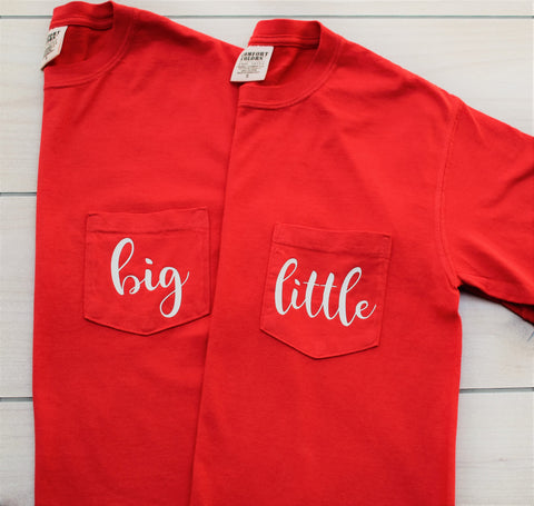 Comfort Colors Big Little Pocket TShirt