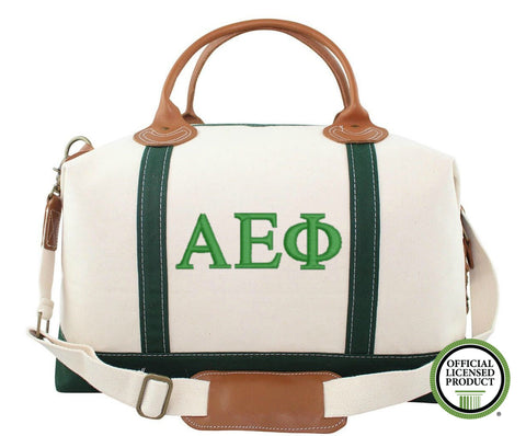 Alpha Epsilon Phi Canvas Weekender Duffle Bag