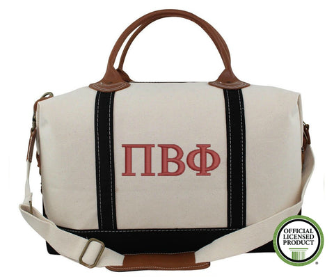 Pi Beta Phi Canvas Weekender Duffle Bag