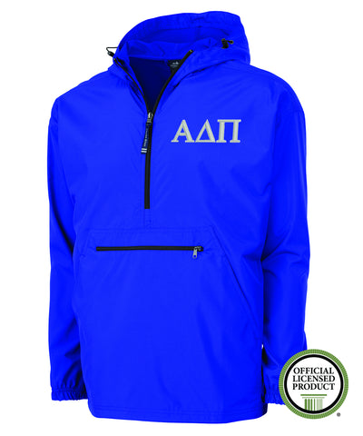Alpha Delta Pi Charles River Pack and Go Pullover Jacket