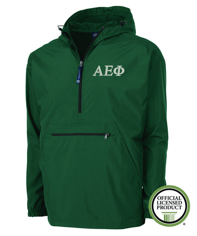 Alpha Epsilon Phi Charles River Pack and Go Pullover Jacket