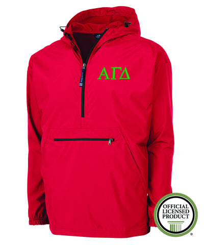 Alpha Gamma Delta Charles River Pack and Go Pullover Jacket