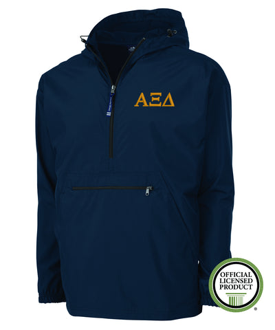 Alpha Xi Delta Charles River Pack and Go Pullover Jacket