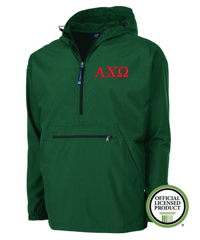 Alpha Chi Omega Charles River Pack and Go Pullover Jacket