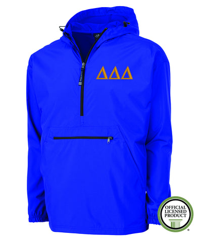 Delta Delta Delta Charles River Pack and Go Pullover Jacket
