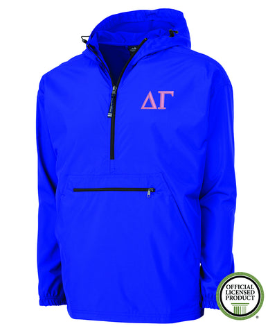 Delta Gamma Charles River Pack and Go Pullover Jacket
