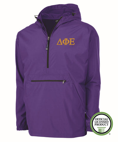 Delta Phi Epsilon Charles River Pack and Go Pullover Jacket