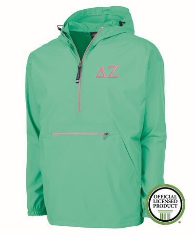 Delta Zeta Charles River Pack and Go Pullover Jacket