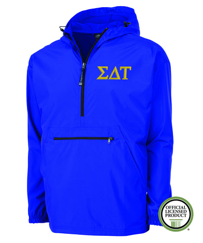 Sigma Delta Tau Charles River Pack and Go Pullover Jacket