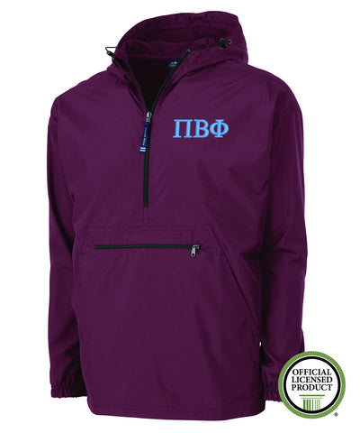 Pi Beta Phi Charles River Pack and Go Pullover Jacket