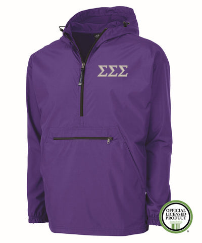 Sigma Sigma Sigma Charles River Pack and Go Pullover Jacket