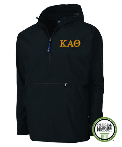 Kappa Alpha Theta Charles River Pack and Go Pullover Jacket