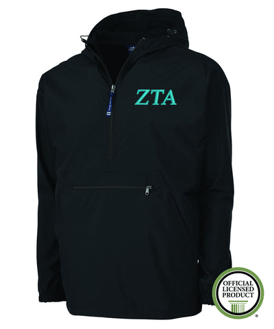 Zeta Tau Alpha Charles River Pack and Go Pullover Jacket
