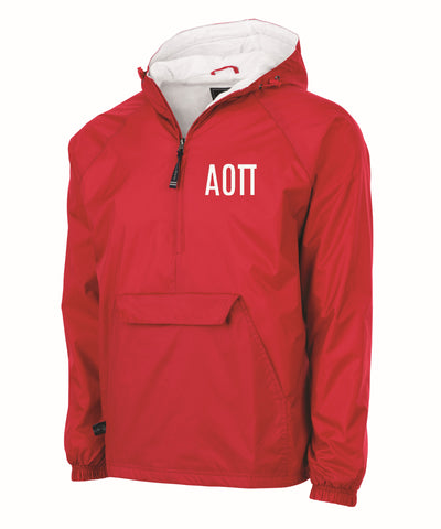 Alpha Omicron Pi Charles River Lined Pullover Jacket